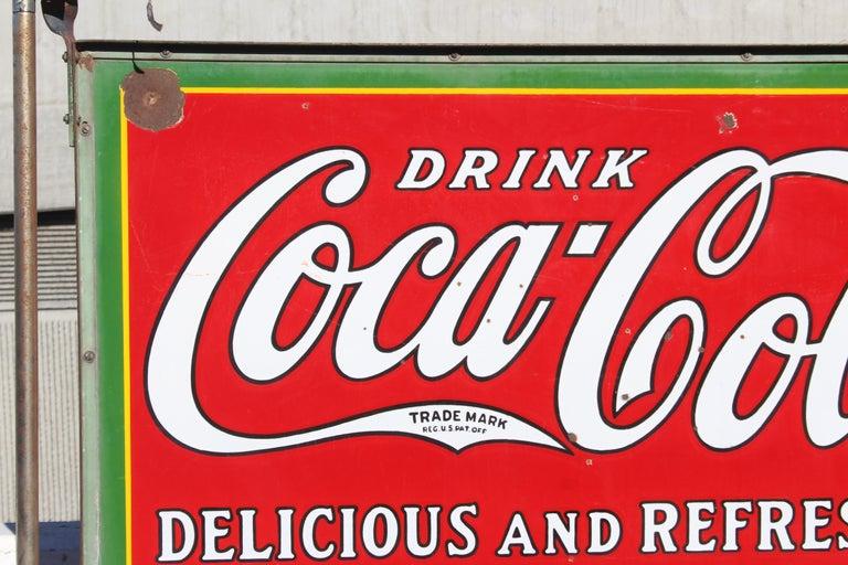 1932 Coca-Cola Porcelain Bus Station Sign For Sale 10