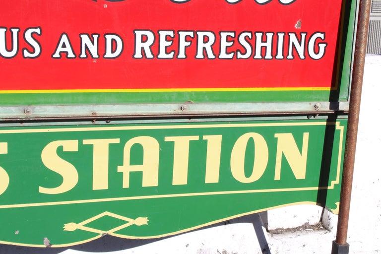 1932 Coca-Cola Porcelain Bus Station Sign For Sale 14