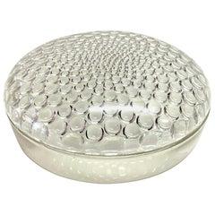 1932 René Lalique Nippon Box Clear Glass, Pearls