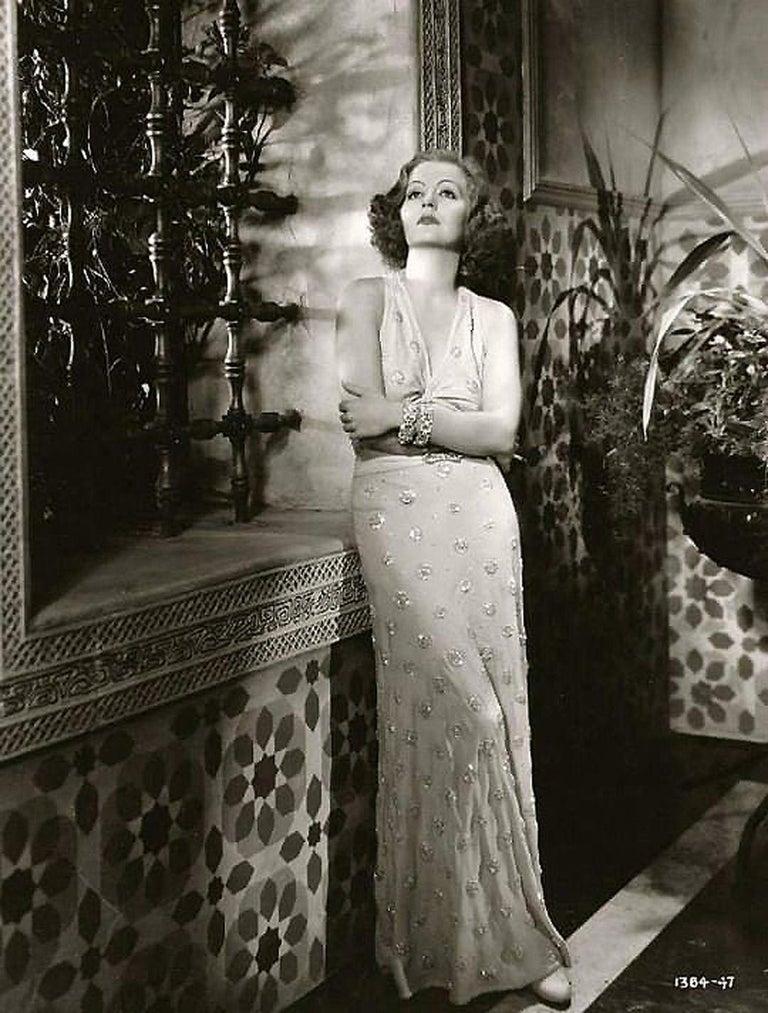 Women's 1932 Tallulah Bankhead Movie-Worn Beaded Blush Silk Bias Cut Deco Gown & Jacket For Sale