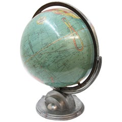1932 Vintage Industrial Art Deco Streamline Moderne Desktop Globe by Replogle