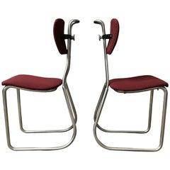 1932, W.H. Gispen for Gispen Culemborg, Holland, Original Pre War Typing Chairs
