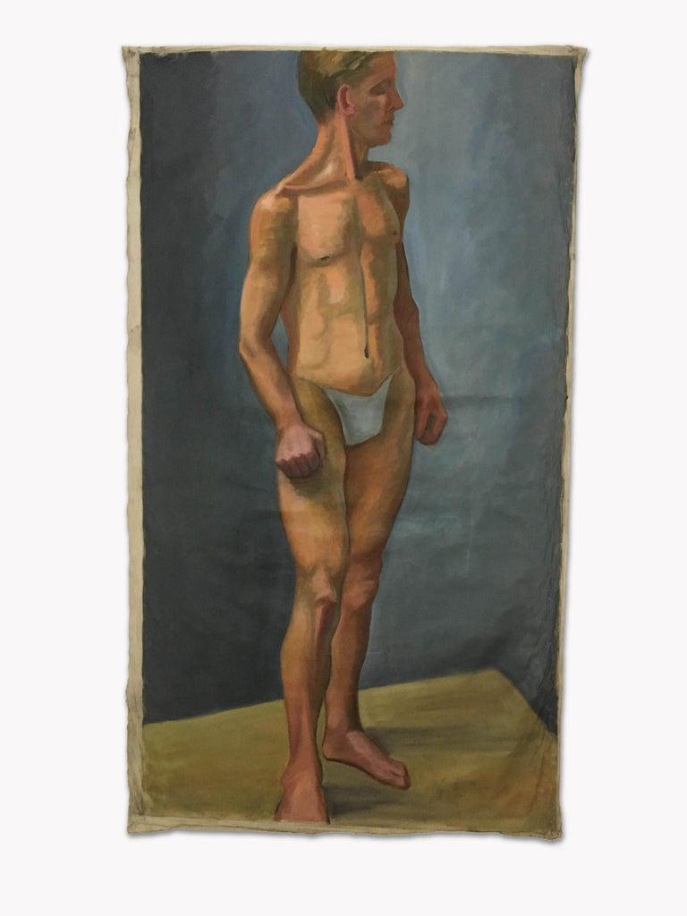 1933 Art Deco Life-Size Portfolio Study Oil Painting by Olga von Mossig-Zupan For Sale 13