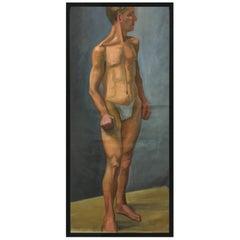 1933 Male 'White' Men Nude Portrait Study Oil Painting by Olga von Mossig-Zupan