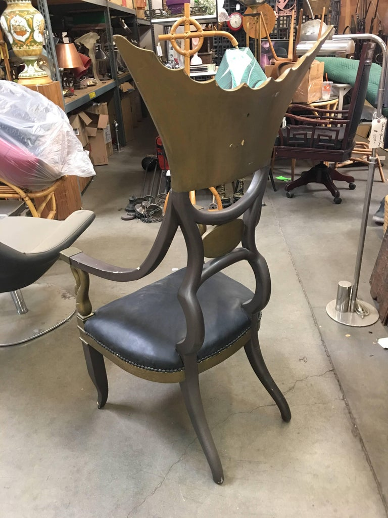 1934 Cleopatra Prop Egyptian Throne Chair Used by Claudette Colbert For Sale 1