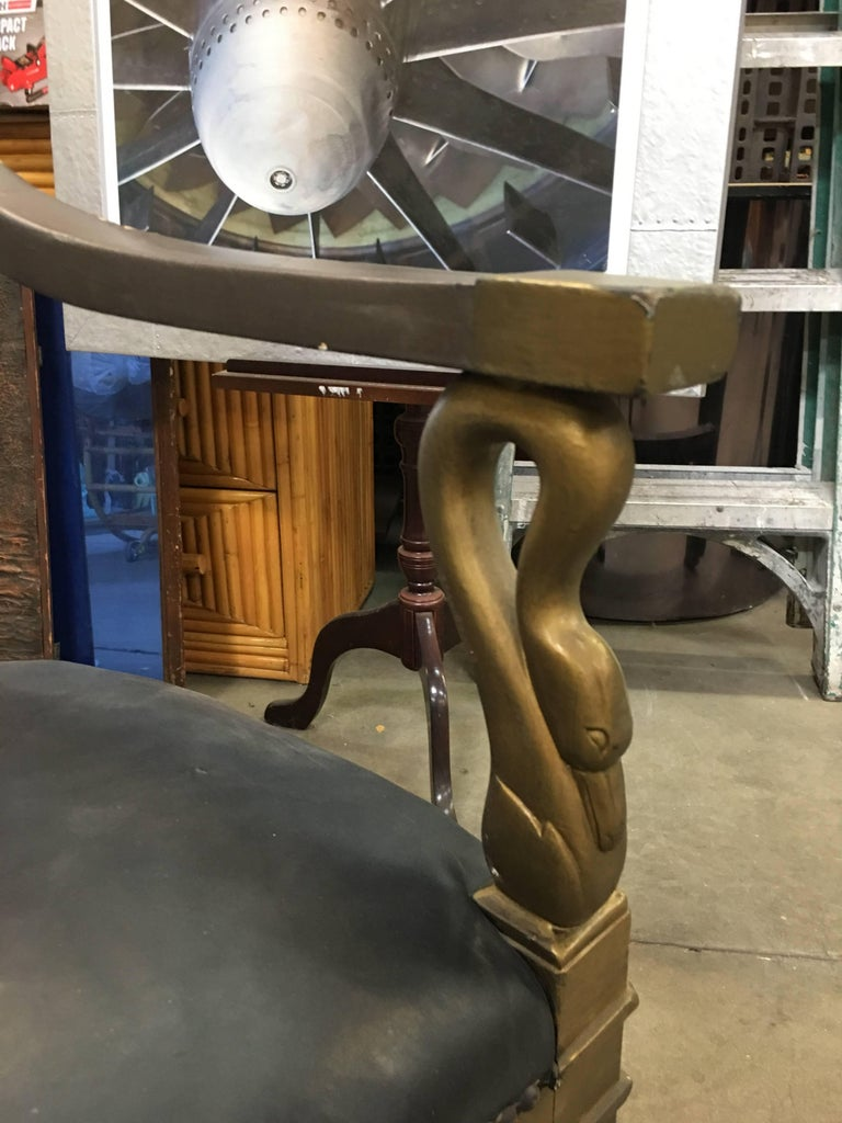 1934 Cleopatra Prop Egyptian Throne Chair Used by Claudette Colbert For Sale 2