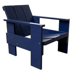 1934, Gerrit Rietveld, by Rietveld Family, Number 41, Children Crate Chair Blue