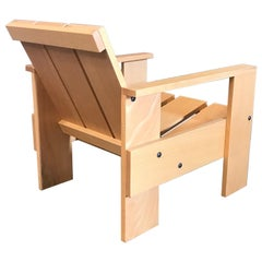 1934, Gerrit Rietveld, by Rietveld Family, Number 60, Children Crate Chair Wood