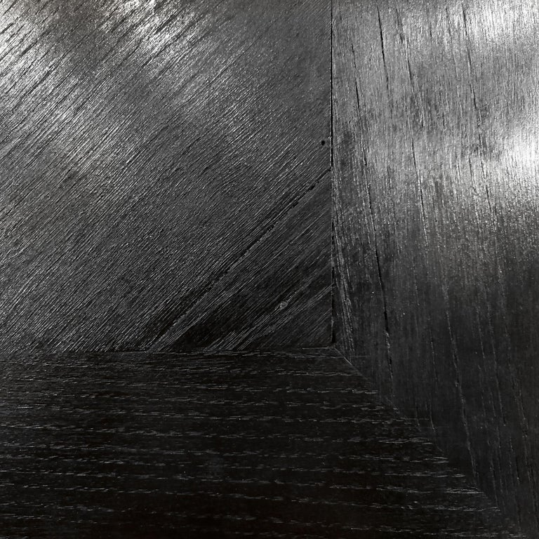 1934 Set of Art Deco Architect Bureau Furniture, Oak, Aluminum, Spain, Barcelona For Sale 6