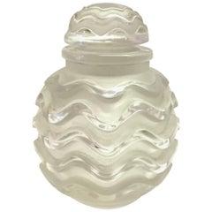 1935 Rene Lalique Klytia Perfume Bottle for Institut de Beauté Clear Glass