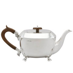 1936 Antique Sterling Silver Teapot