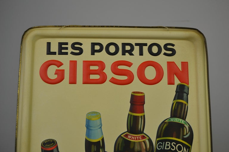 Suberb tin sign for Les Portos Gibson.