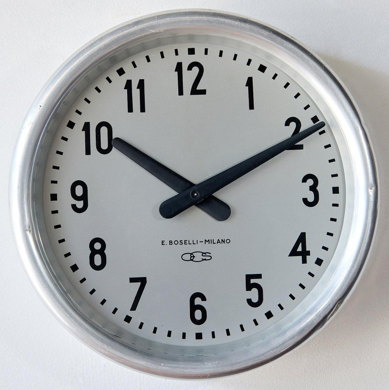 Steel 1936 Wall Clock by Gio Ponti For Sale