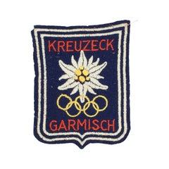 1936 Winter Olympic Games Badge, Garmisch Partenkirchen