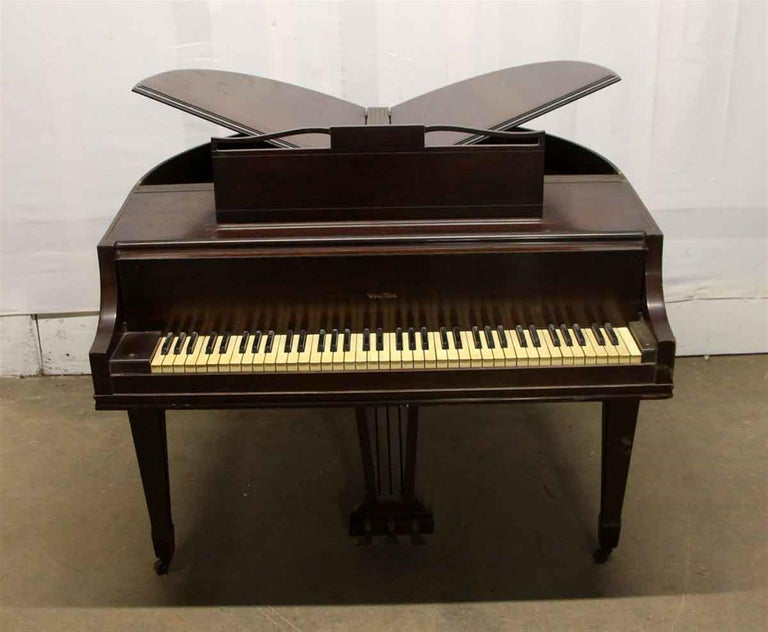 American 1937 Art Deco Butterfly Baby Grand Piano For Sale