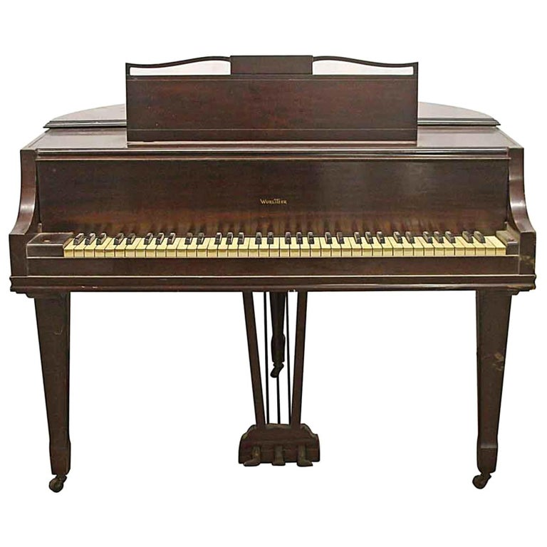 1937 Art Deco Butterfly Baby Grand Piano For Sale