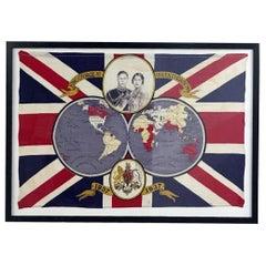 1937 King George VI Coronation Framed Flag