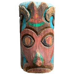 1937 Pacific Northwest Carved and Painted TOTEM
