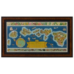 """1937 Hawaii Map """"The Dole Map of the Hawaiian Islands"""" by Parker Edwards"""