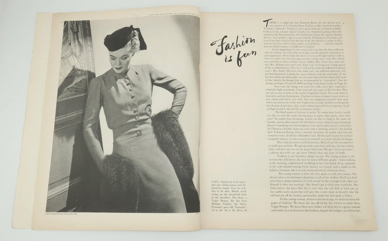 Gray 1938 Vogue Pattern Book For Sale