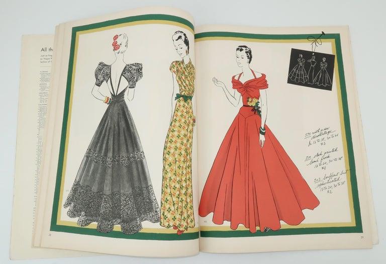 1938 Vogue Pattern Book In Fair Condition For Sale In Atlanta, GA