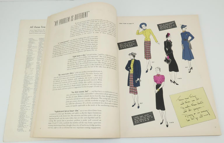 Women's 1938 Vogue Pattern Book For Sale