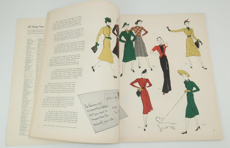 1938 Vogue Pattern Book For Sale 1