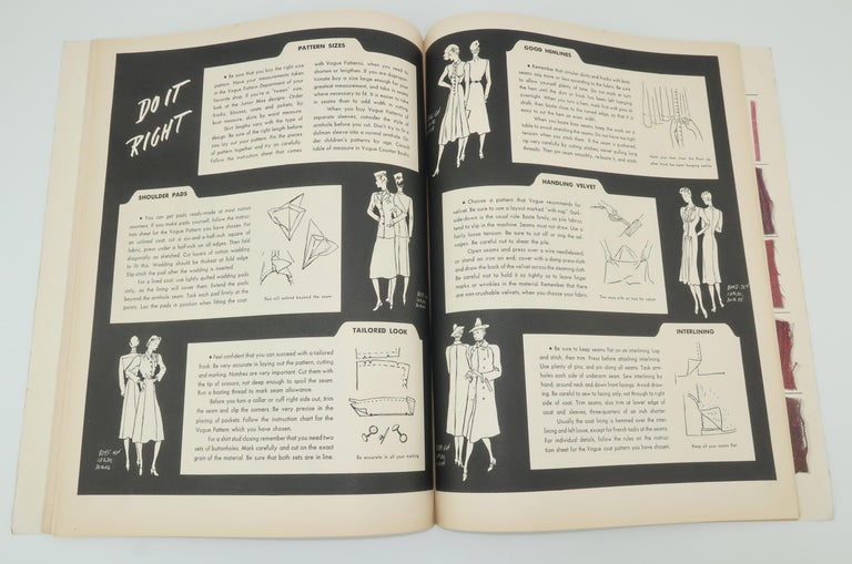 1938 Vogue Pattern Book For Sale 4