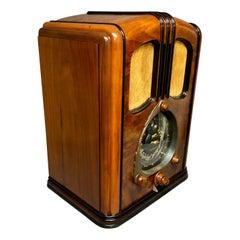 "1938 Zenith ""WALTON"" 12-S-232 Shutter Dial Tombstone Art Deco Radio"