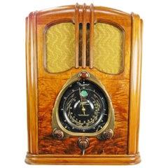 "1938 Zenith ""WALTON"" 9-S-232 Shutter Dial Tombstone Art Deco Radio"