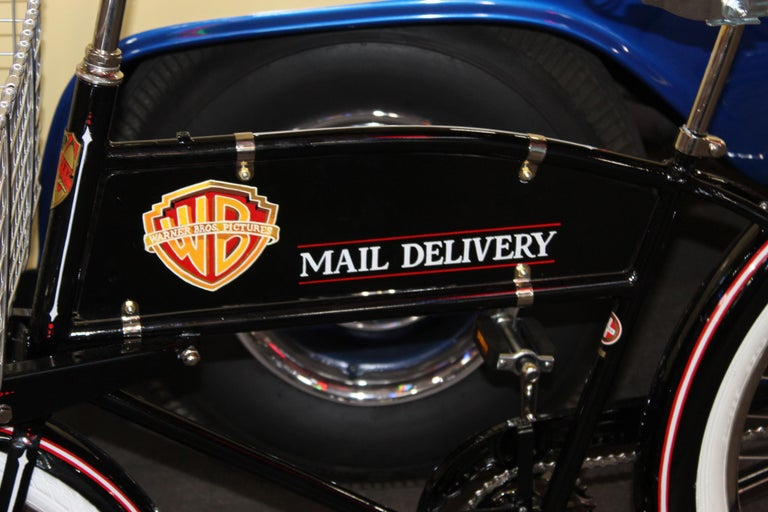 Amazing mail delivery bike with Warner Brothers Theme. This bicycle has the smaller basket option that measures 24