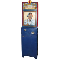 1939 Exhibit Supply Smiling Sam The Voo Doo Man Coin Op Fortune Machine