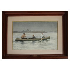 1939 Watercolor by FR Walker in the Manner of Winslow Homer