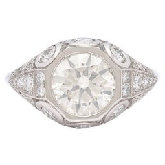 1.94 Carat Diamond Platinum Engagement Ring