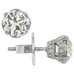 1.94 Carat Diamond Stud Earrings