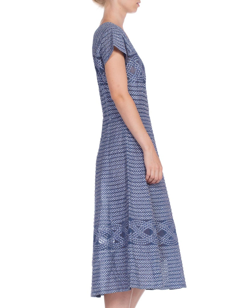 Women's 1940/50's Cotton Gingham On Net Fit And Flare Dress For Sale
