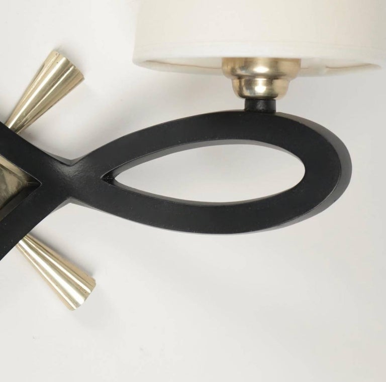 French 1940 Pair of Wall Lights by Marcel Guillemard For Sale