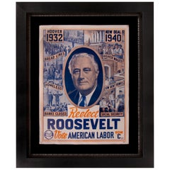 1940 Presidential Campaign Poster for FDR