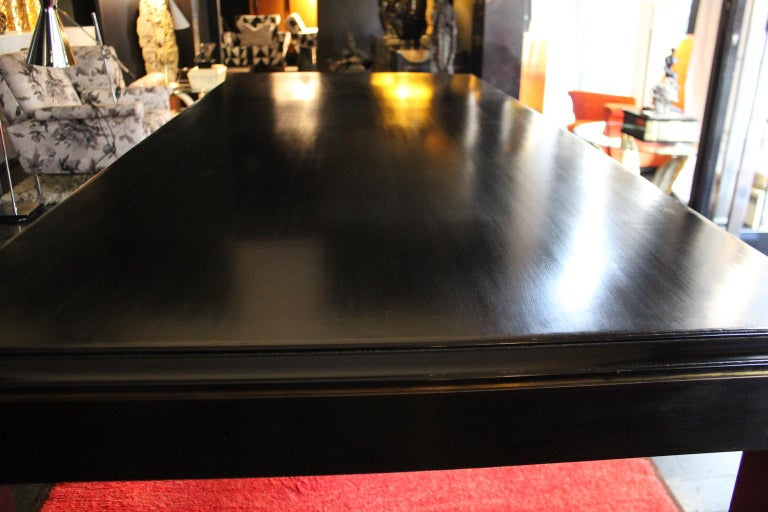 Hand-Crafted 1940 Rectangular Writing Desk or Dining Table in Napoleon III Style For Sale
