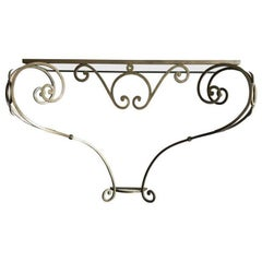 1940 Wrought Iron French Console
