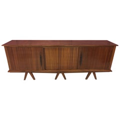 1940 Zebra Wood Sideboard Art Deco