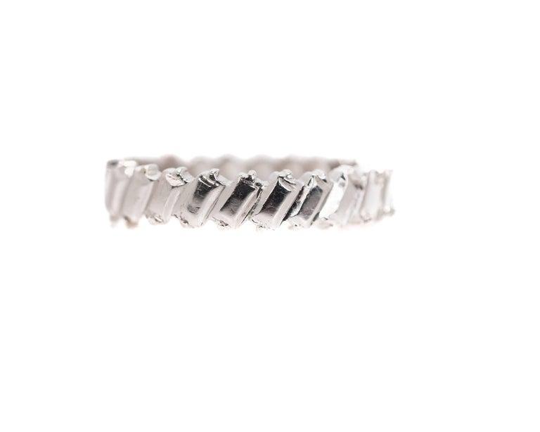 1940s 1 Carat Total Baguette Diamond Half Way around Eternity Band For Sale 1
