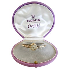 1940s 14kt Gold Rolex Orchid Watch