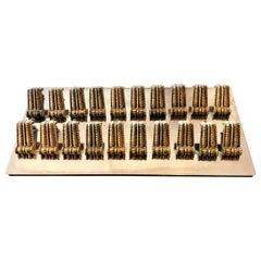 1940s-1950s Italian Brass Drawer or Door Handle or Pull
