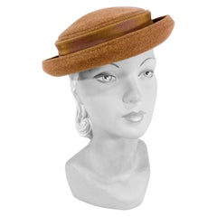 1940s/1950s Taupe Fur Felt Hat