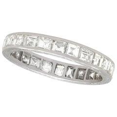 1940s 2.16 Carat Diamond and Platinum Full Eternity Ring
