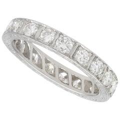 1940s 2.60 Carat Diamond and White Gold Full Eternity Ring