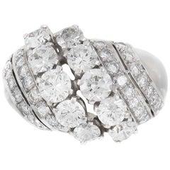 1940s 6 Lines of Diamonds Ring