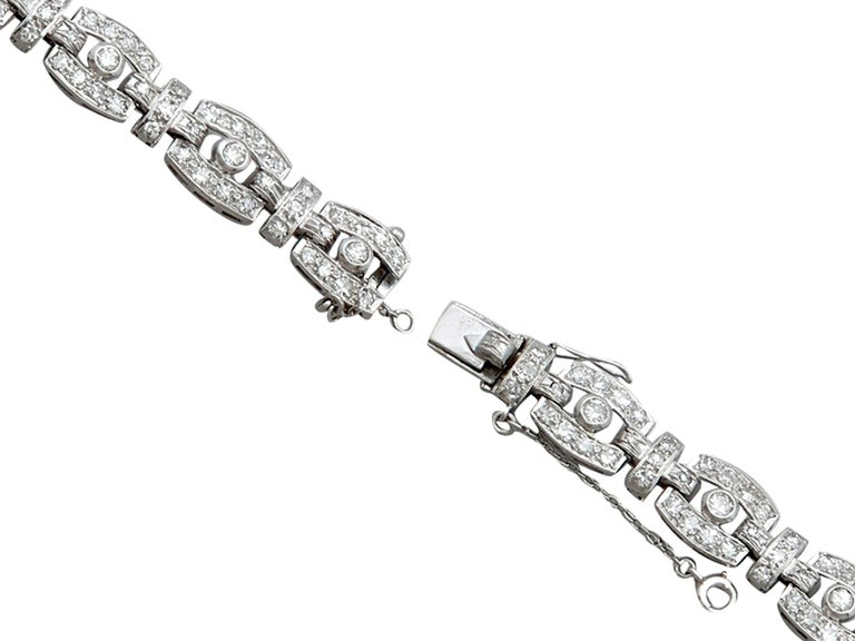 1940s 6.65 Carat Diamond and Platinum Cocktail Watch For