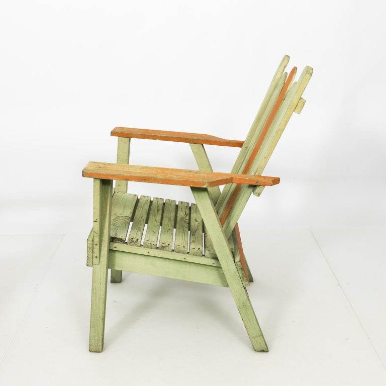 1940s Adirondack Lounge Chairs For Sale 9